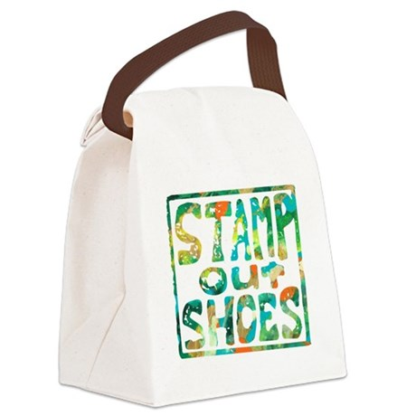 Stamp Out Shoes Happy Canvas Lunch Bag