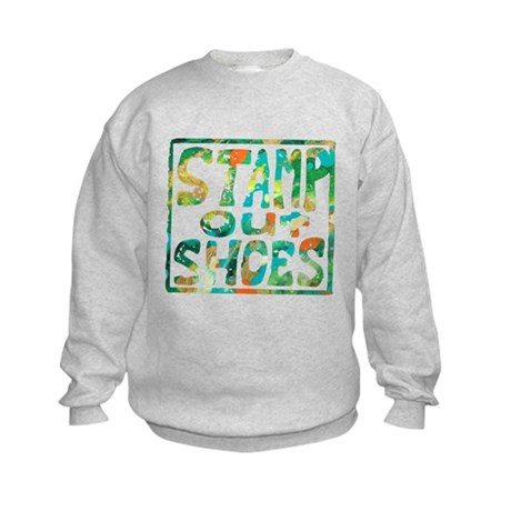 Stamp Out Shoes Happy Kids Sweatshirt
