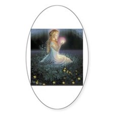 Wishes Amongst the Flowers Oval Decal
