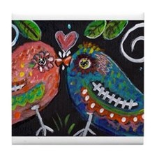 lovebirds Tile Coaster