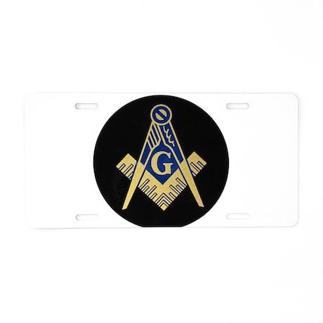 Simply Masonic Aluminum License Plate