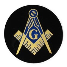 Simply Masonic Round Car Magnet
