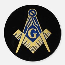 Simply Masonic Round Car Magnet