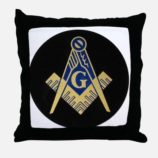 Simply Masonic Throw Pillow