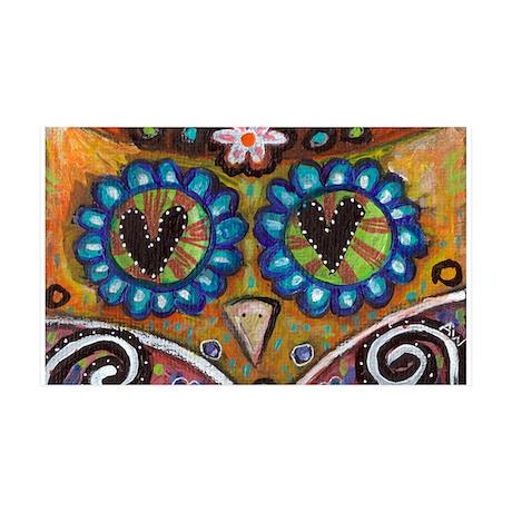 orange owl 35x21 Wall Decal
