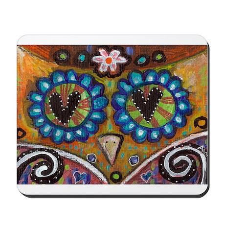 orange owl Mousepad