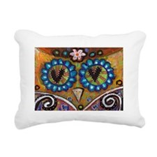 orange owl Rectangular Canvas Pillow