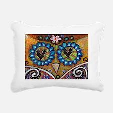 orange owl Rectangular Canvas Pillow