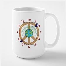 Now Is The Time; World Peace Large Mug Mugs