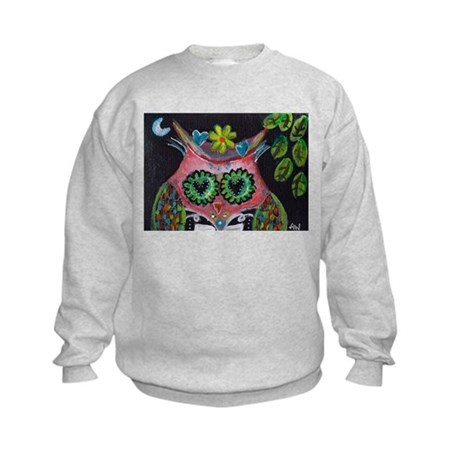 pink owl Kids Sweatshirt