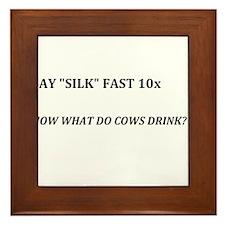 "Say ""Silk"" Fast Framed Tile"
