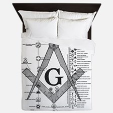 Masonic Bodies Queen Duvet