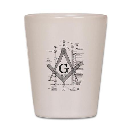 Masonic Bodies Shot Glass
