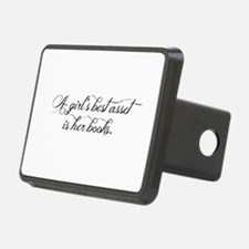 A girl's best asset is her books! Hitch Cover