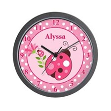 Ladybug Garden Wall Clock - Alyssa