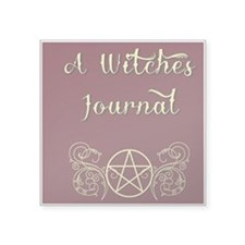 """A Witches journal2 Square Sticker 3"""" x 3"""""""