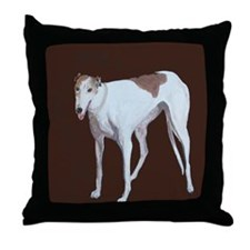 """Greyhound"" Throw Pillow"