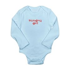 hungry girl funny Long Sleeve Infant Bodysuit