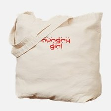 hungry girl funny Tote Bag