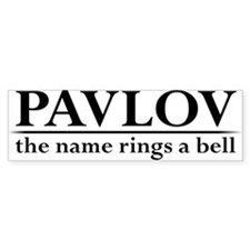 Pavlov Rings Bells Bumper Sticker