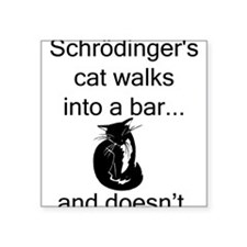 "Schrödinger's Cat Square Sticker 3"" x 3"""
