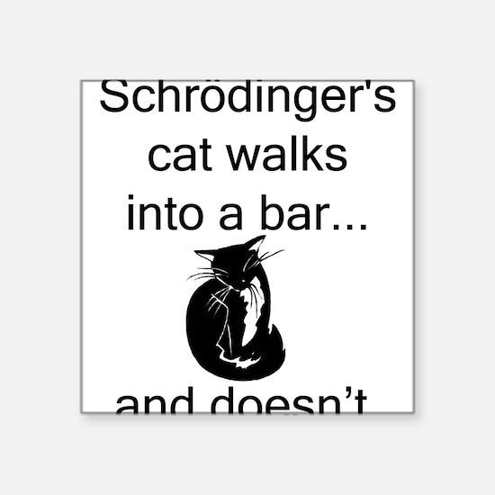 "Schrödinger's Cat Square Sticker 3"" x 3"""