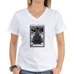 Cthulhu Statue Women's V-Neck T-Shirt