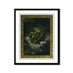 Cthulhu Rising Framed Panel Print