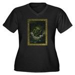 Cthulhu Rising Women's Plus Size V-Neck Dark T-Shi