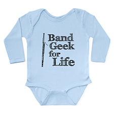 Bassoon Band Geek Long Sleeve Infant Bodysuit