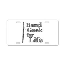 Bassoon Band Geek Aluminum License Plate