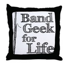 Bassoon Band Geek Throw Pillow