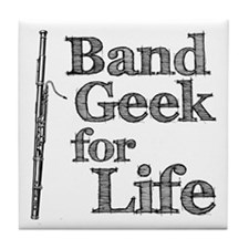 Bassoon Band Geek Tile Coaster