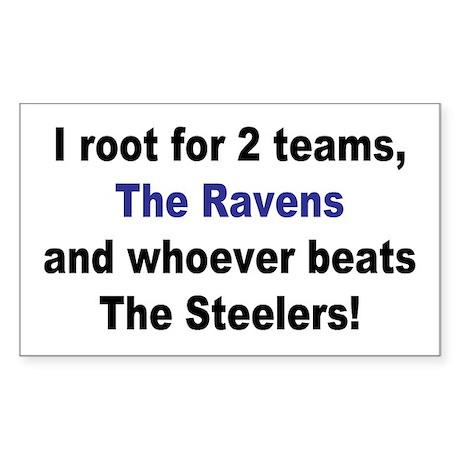 Ravens Football Sticker (Rectangle)