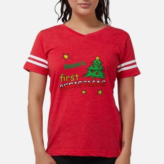 Custom First Christmas Womens Football Shirt