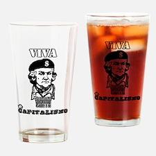Adam Smith - Viva Capitalismo Drinking Glass