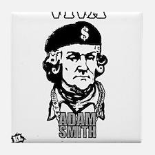 Adam Smith - Viva Capitalismo Tile Coaster