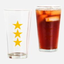 yellow star 3 Drinking Glass