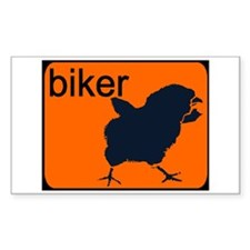 BIKER CHICK Rectangle Decal