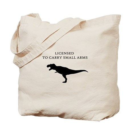 Licensed to Carry Small Arms Tote Bag