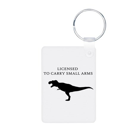 Licensed to Carry Small Arms Aluminum Photo Keycha