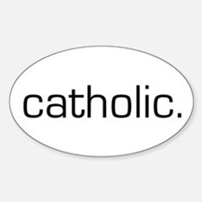Catholic Oval Decal