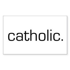 Catholic Rectangle Decal