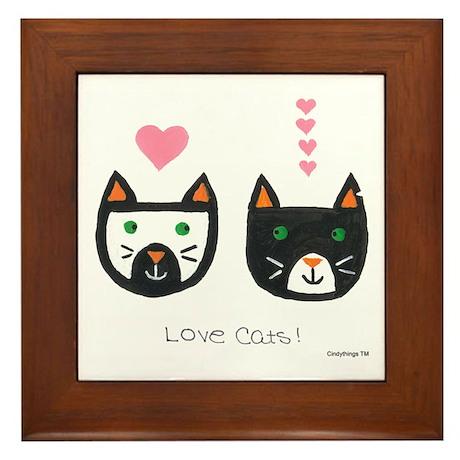Love Cats Framed Tile
