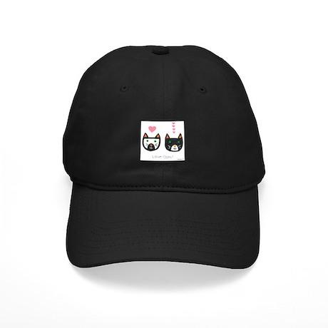 Love Cats Black Cap
