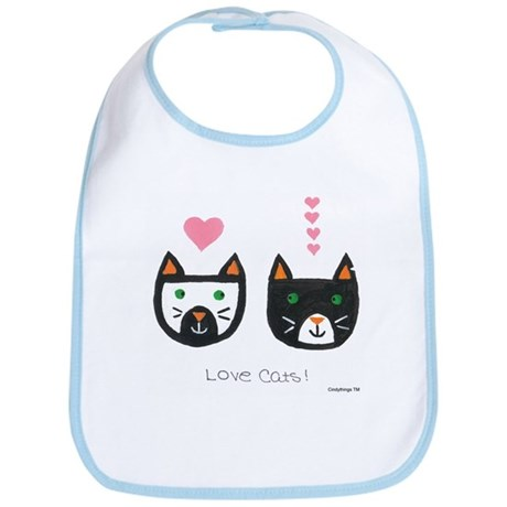 Love Cats Bib