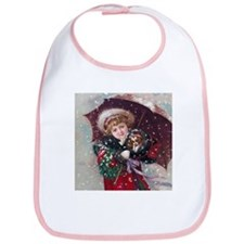 Cute Christmas Girl Bib