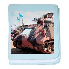Army tank baby blanket