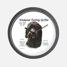 Wirehaired Pointing Griffon Wall Clock