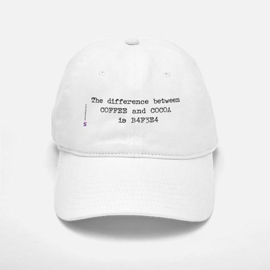 Coffee and Cocoa Baseball Baseball Cap